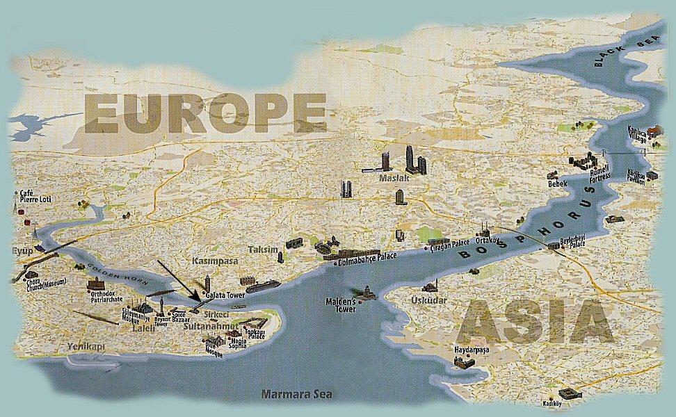 Carte-Le Bosphore D'Istanbul, La promenade sur le Bosphore