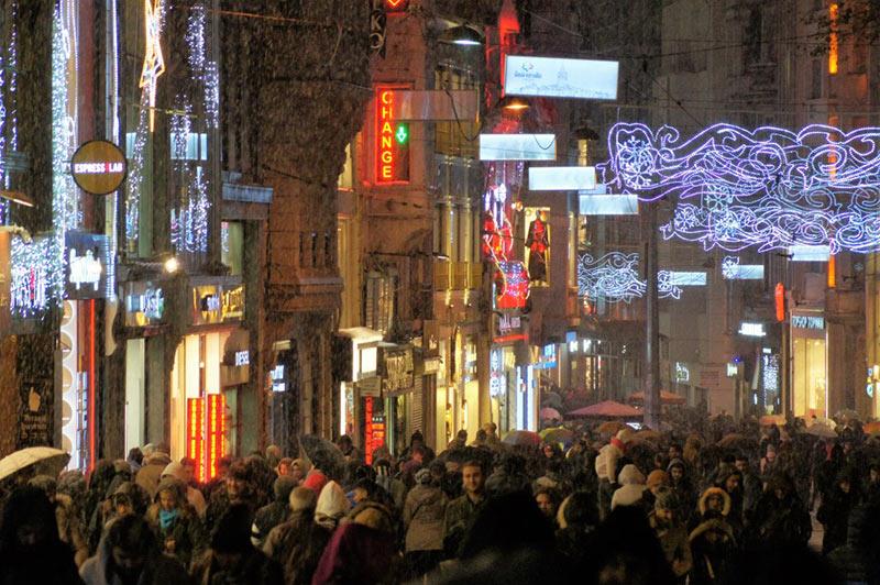 Photos d'Istanbul la Rue Istiklal