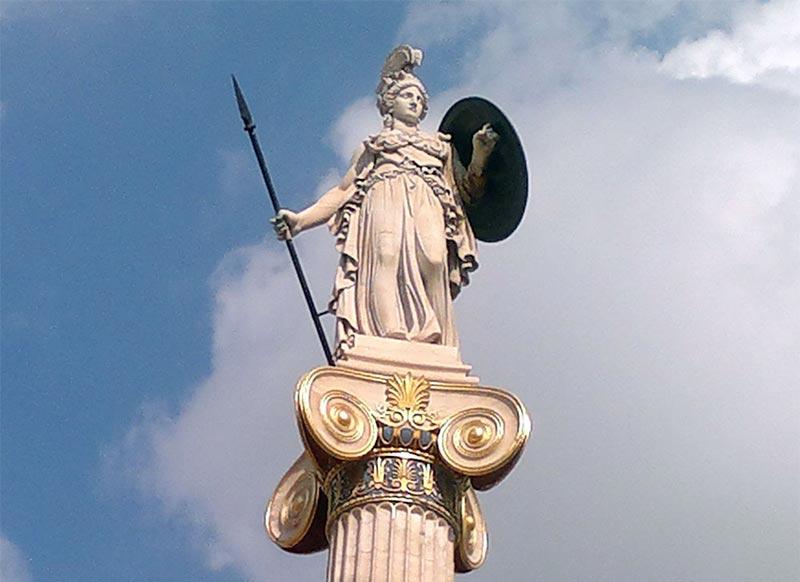 La déesse Athéna, le Cheval de Troie