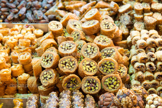 Turkish Sweets in Spice Bazaar, Istanbul
