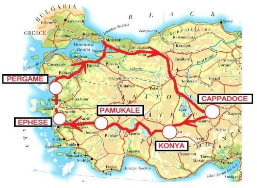 Ruines d'EPHESE en Turquie
