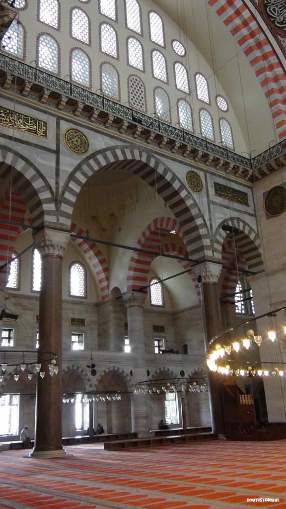 Intérieure de la Mosquée de Soliman le Magnifique