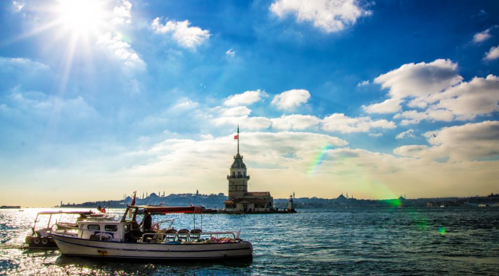 La Tour De Léandre Le Bosphore Istanbul, la promenade sur le Bosphore