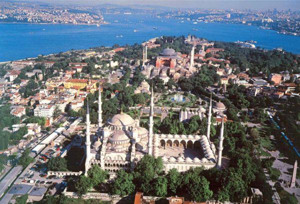 Visiter Istanbul, La Mosquée Bleue, La Basilique Sainte Sophie