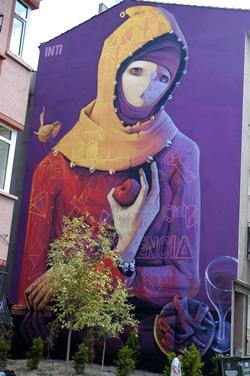 la peinture murale Kadıkoy Istanbul