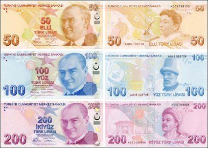 La monnaie turque la livre turque lira toutelaturquie guide istanbul - 200 euros en livres ...