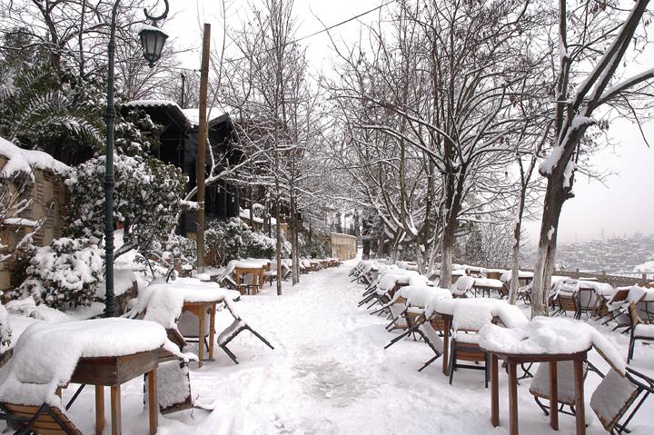 Le Café Pierre Loti Istanbul en Hiver, la corne d'or